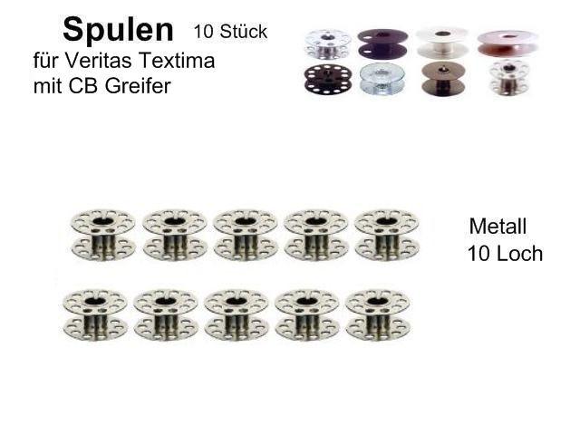 Spulen für viele Veritas// Textima 21x9 mm; 40 Stück ! Metall Schlitz