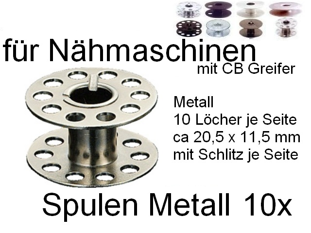 Kunststoff Spulen für Lifetec Nähmaschinen 10 St. Metall Spulen